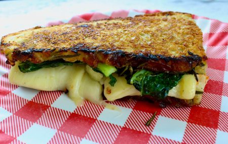 Kale Grilled Cheese with Pear