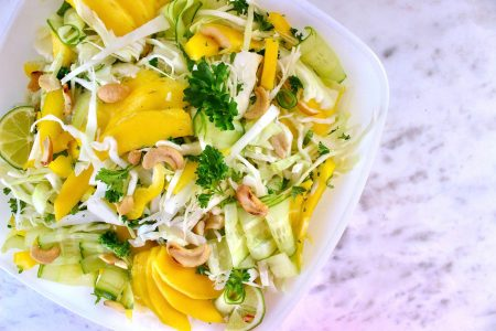 Asian Cabbage & Mango Salso