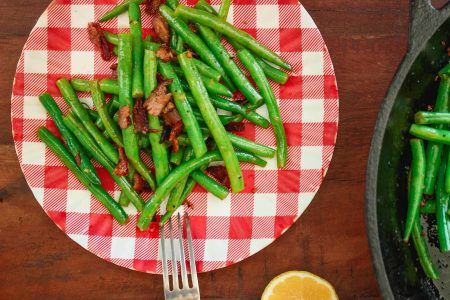 Green Beans with Honey Bacon Crumbles