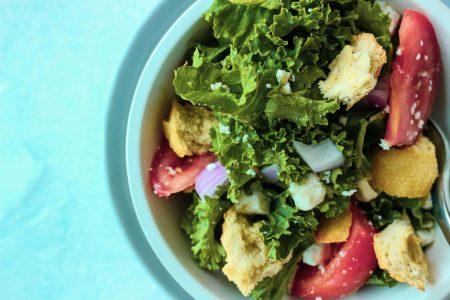 Kale Panzanella Greek Salad
