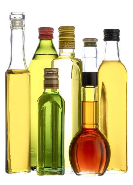 Bottles of Vinaigrettes and Oils
