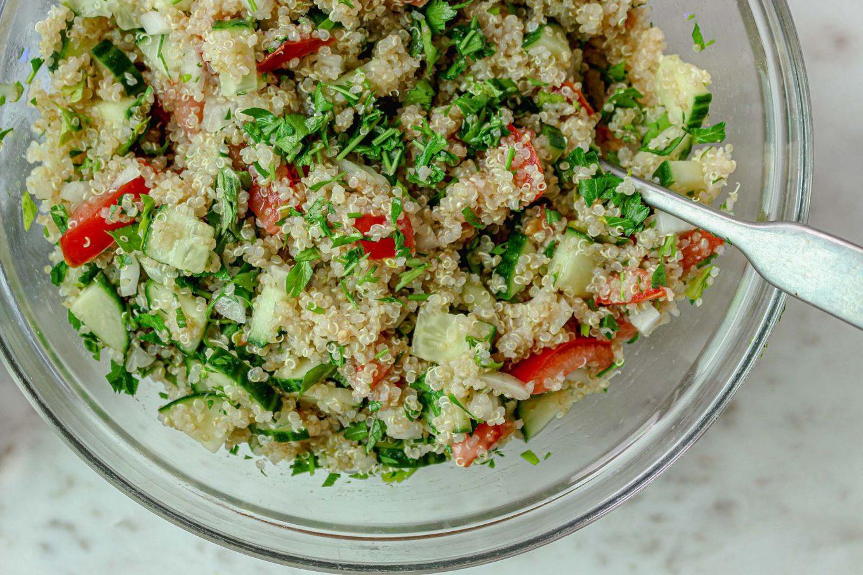 Cucumber Quinoa Tabbouleh Salad