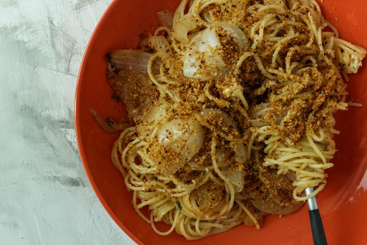 Caramelized Onion Pasta with Feta
