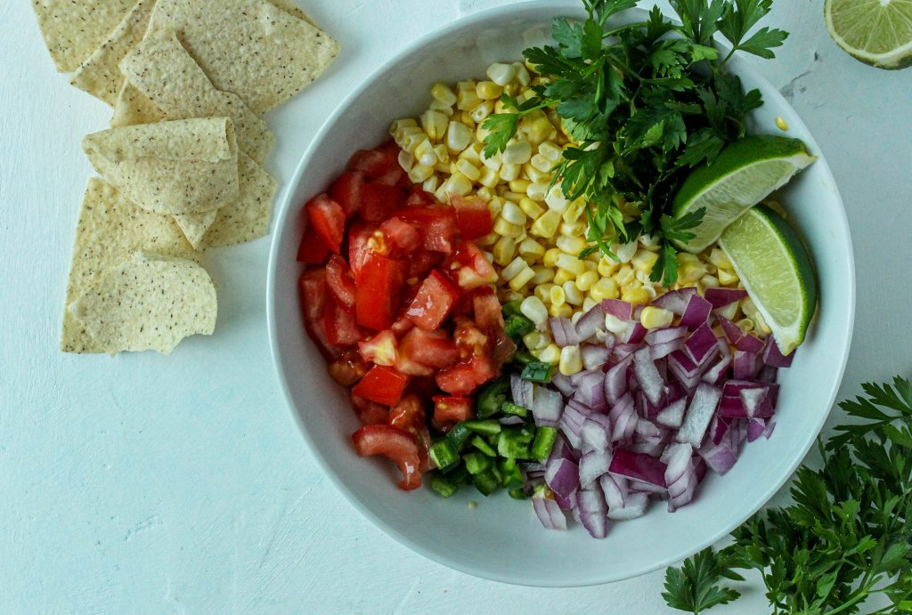 Sweet Corn Salsa Ingredients