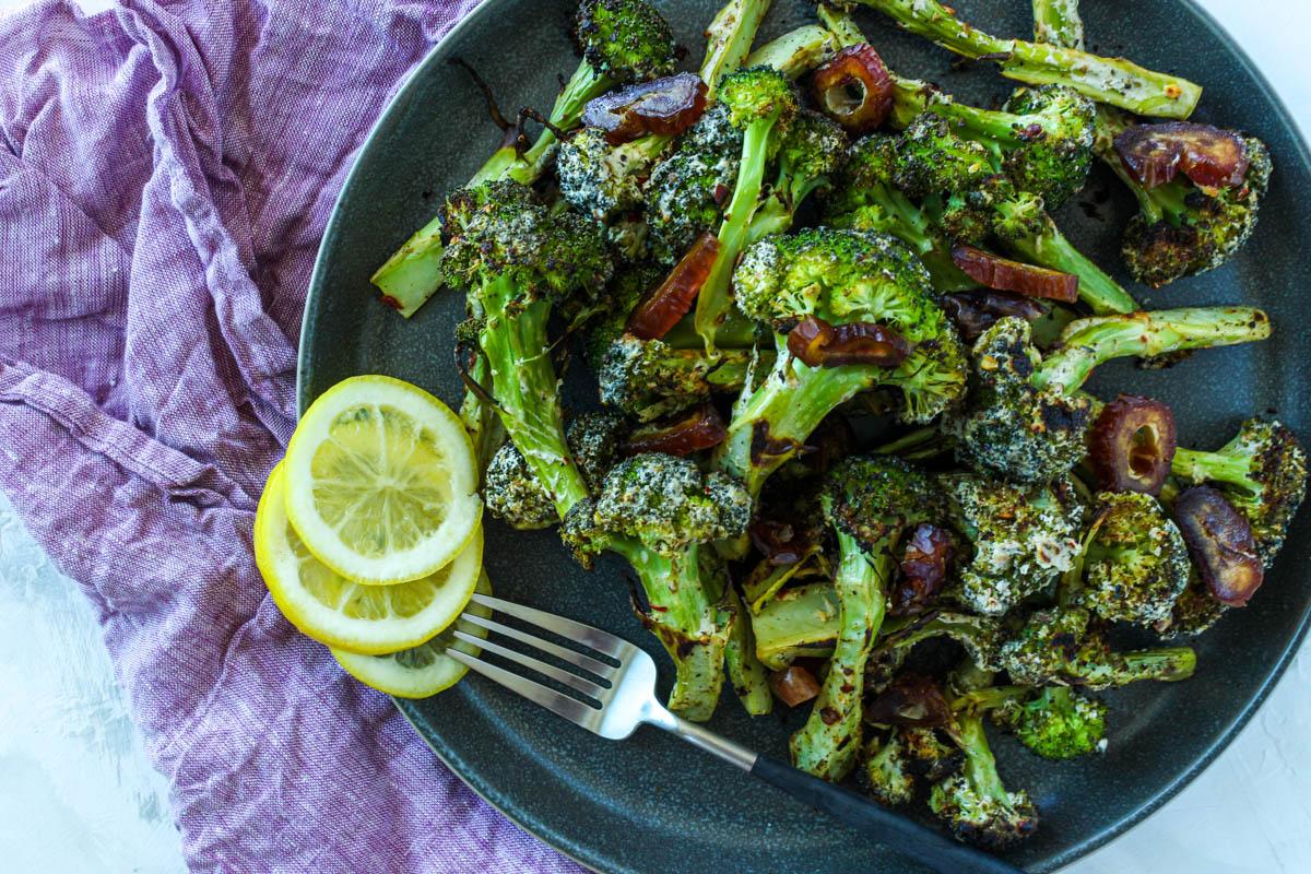 Za'atar Yogurt Roasted Broccoli