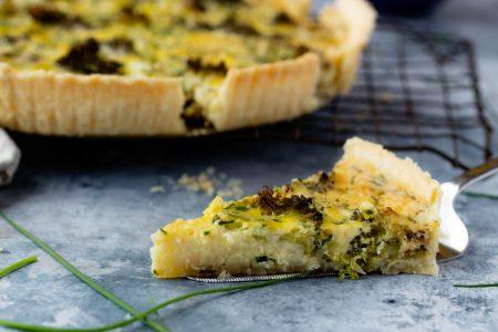Roasted Broccoli Cheddar Quiche