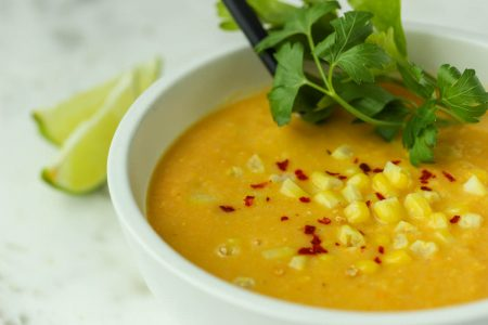 Sweet Potato Coconut Corn Chowder