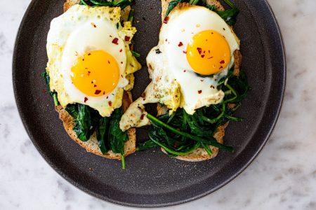 Dandelion Greens on Toast
