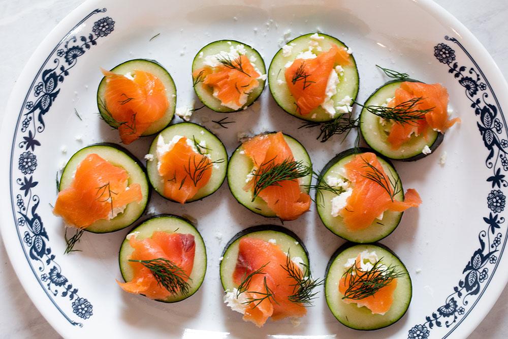 Cucumber and Smoked Salmon Bites