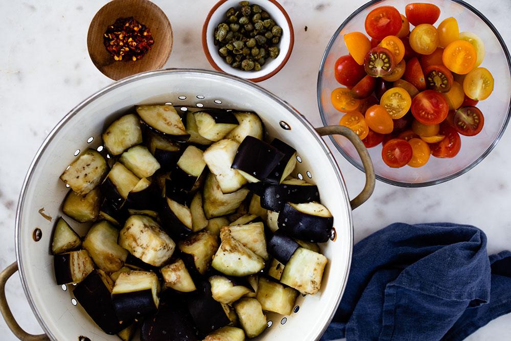 Eggplant and Orzo Salad