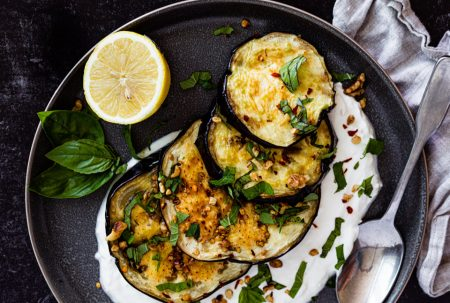 Grilled Eggplant with Lemon Ricotta