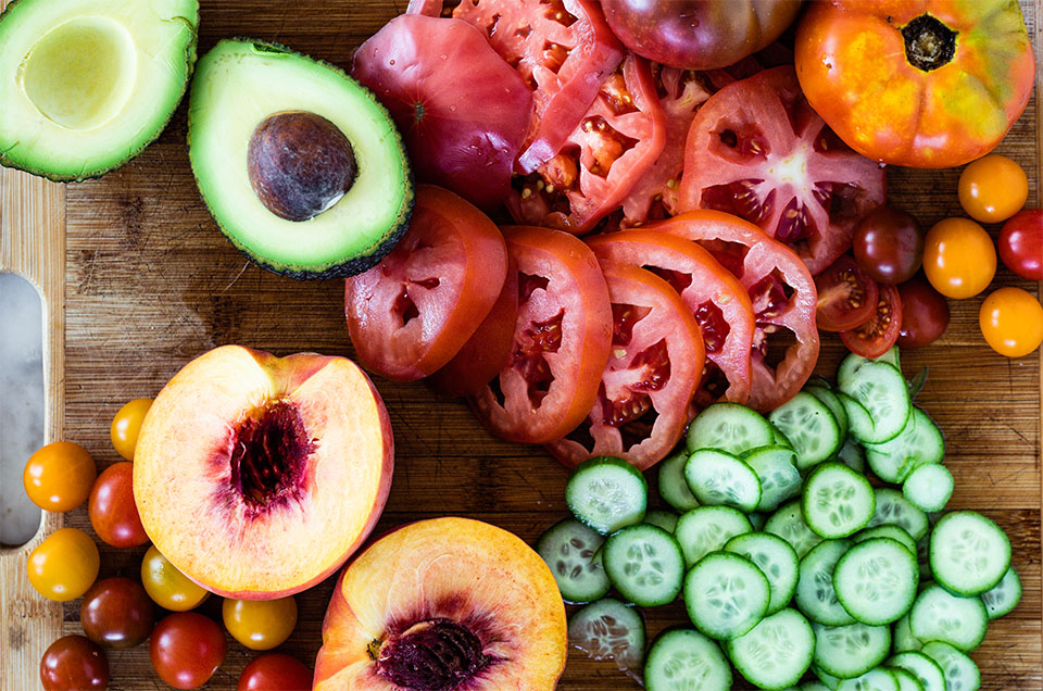 Seared Halloumi and Tomato Salad