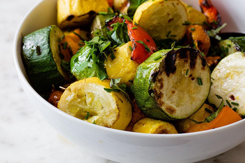 Grilled Rainbow Vegetable Skewers
