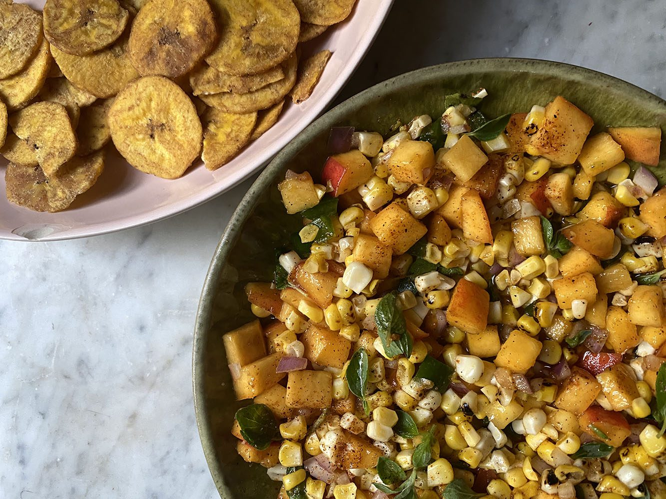 Peach and Charred Corn Salsa