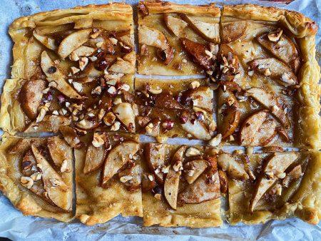 Pear, Brown Butter, and Hazelnut Tarte