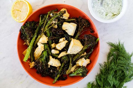 Broccoli and Tofu Sheet Pan Dinner